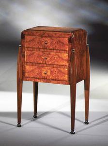 Art D�co Art.534 armoire 3 tiroirs, Armoire satin avec 3 tiroirs, en ronce de cendres