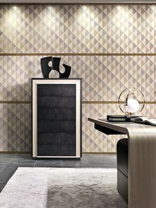 MB60 Galileo commode, Sycomoro armoire avec tiroirs