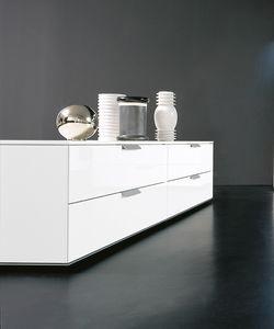 PRISMA comp.04, Meubles bas avec tiroirs, dans le style essentiel, pour le salon