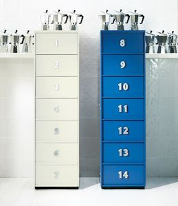 TOOLBOX comp.07, Tallboy moderne pour la maison, avec des tiroirs