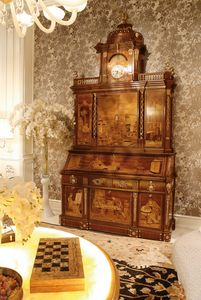 5801, Cabinet très riche en marqueterie et finition