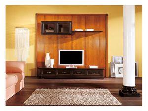 Art.108/L, Armoire basse avec des cintres pour les salles de séjour, de style classique