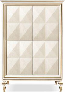 Diamante cabinet, Armoire avec étagères internes en verre