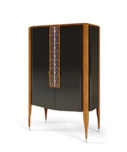 LEXINGTON AVENUE Mobile Bar, Armoire de bar en bois
