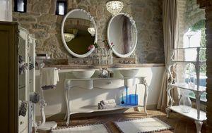 Carpi meubles de salle de bain, Meubles de salle de bain de style classique, avec deux lavabos