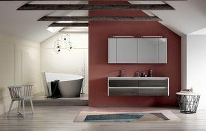 Dress 2.0 comp.07, Meuble de salle de bain avec double vasque