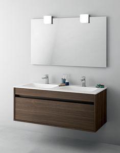 Duetto comp.13, Armoire de salle de bain avec double évier