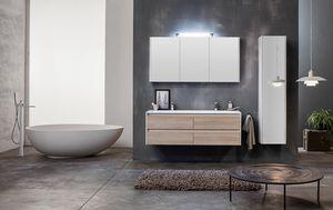Kami comp.01, Armoire de salle de bain modulaire avec double vasque