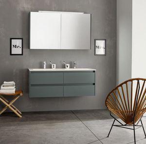 Kami comp.06, Composition de salle de bain modulaire avec double évier