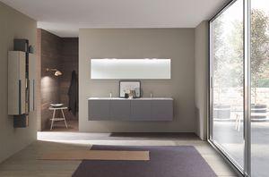 Lime 1.0 comp.04, Armoire de salle de bains avec double vasque à Ocritech