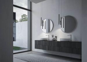 Sense comp.04, Meubles de salle de bain avec deux vasques rondes en céramique
