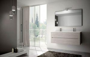 Smyle comp.05, Meubles de salle de bain avec deux grands vasques