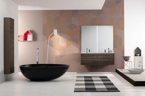 Summit 2.0 comp.09, Meuble pour salle de bain en frêne avec double vasque