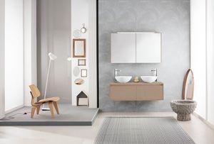Summit 2.0 comp.11, Meuble pour salle de bain avec double vasque à poser