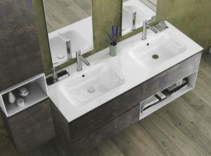 Torana TR 022, Armoire de toilette avec deux lavabos