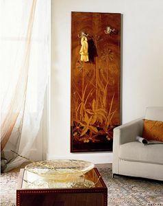 A416, Manteau mural de luxe classique en bois