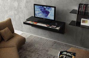 a107 tom, Meuble TV avec tiroir et trous de câble