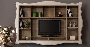Alice Art. 524, Bibliothèque suspendue avec meuble TV