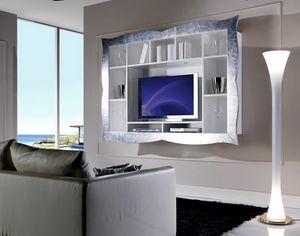 Allegra Living élément mural avec cadre, Meuble TV suspendu pour salon