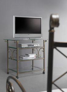 Apollo Cart, TV chariot de cinéma à maison avec plateau en verre