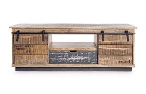 Armoire basse 2A-1C Tudor, Meuble bas de style country
