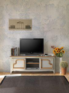Art. AX104, Cabinet meuble tv en bois, de style provençal