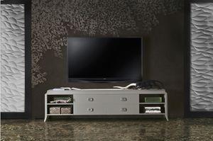 Art. VL143, Base de meuble TV en bois laqué, avec tiroirs