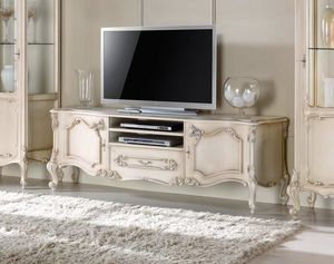 Chippendale meuble TV laqué, Meuble TV de style classique