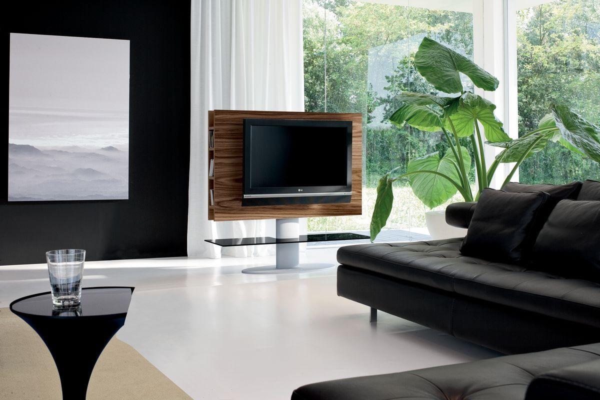 CORTES, Meuble TV pour salon, avec étagère