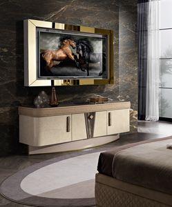Diamond mobile porta tv, Meuble TV avec éclairage LED
