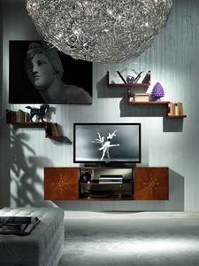 LB17 Nube biblioth�que, Stand de TV dans le luxe classique, des chambres d'h�tel