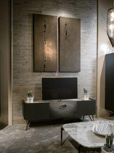 PANGEA Meuble TV GEA Collection, Meuble télé avec dessus en marbre précieux