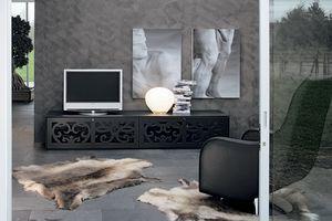 PARIS tv stand, Accueil Mobilier de théâtre, en stratifié perforé, pour salles de séjour