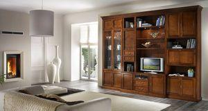 R 06, Meuble TV avec tiroirs, vitrines et armoires