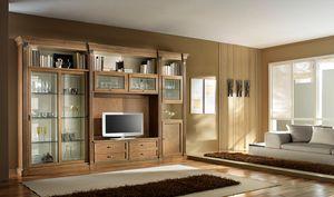 R 12, Meuble TV en cerisier, avec portes coulissantes