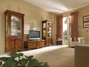 Salieri meuble TV, Meuble TV en bois, avec tiroirs