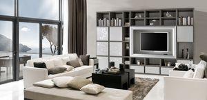 ST 58, Meuble TV en frêne avec décorations florales en relief