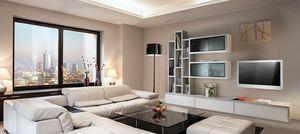 ST 7, Meuble TV avec étagères, présentoirs et contenants