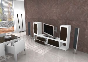 Tower, Meuble TV en différentes tailles