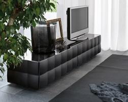 VENICE tv stand, Meuble TV avec 2 tiroirs, en stratifié revêtu de PVC