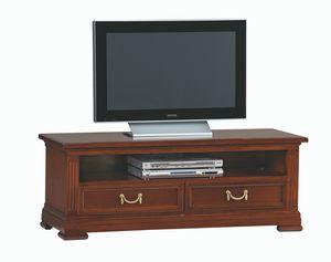 Villa Borghese meuble télévision 5377, Meuble télé avec deux tiroirs