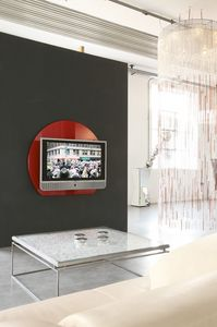xl95 wall, Tv soutient en couleur verre trempé
