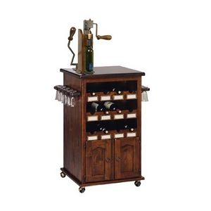 Art. 345, Porte-bouteilles et une tasse meubles porteurs, avec la roue, pour bar à vin