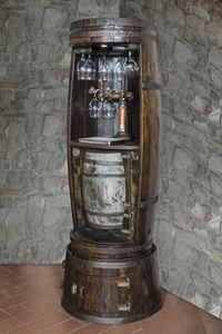 Art. 651, Armoire à vin en forme de barillet, avec porte-bouteille