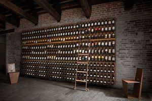 Libreria del vino - Wine bookcase, Porte-bouteilles modulaire mural ou au sol