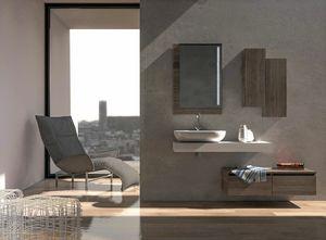 COMPONIBILE 02, Meuble pour lavabo mural modulaire