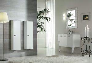 DECÒ D12, Meuble sous-vasque laqué avec portes