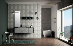 Dress 2.0 comp.06, Composition de la salle de bain avec miroir rétro-éclairé