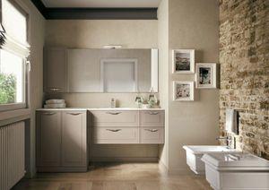Dressy comp.08, Meubles de salle de bain avec une combinaison de styles traditionnels et contemporains