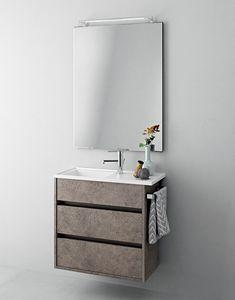 Duetto comp.17, Meuble pour salle de bain compact avec tiroirs